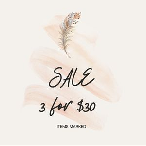 3 for $30 get ready for spring sale
